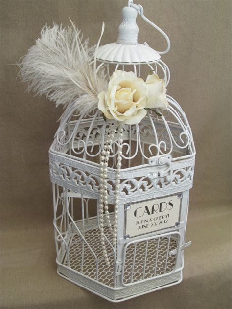vintage style birdcage wedding card by southburytreasures