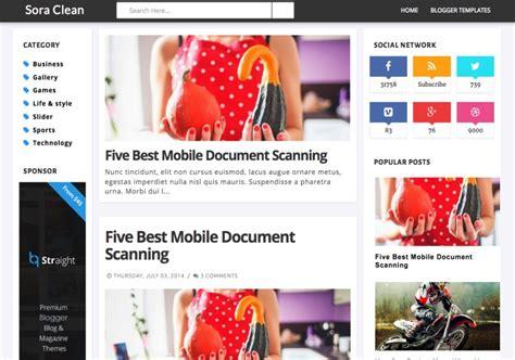 sora templates for blogger sora clean blogger template blogspot templates 2018