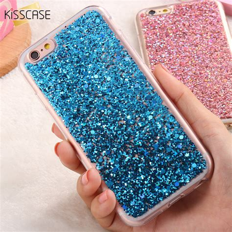 Ultra Thin Gliter For Iphone 6g 6s 4 7 Inch kisscase for iphone 6 6s luxury glitter bling sequin ultra thin soft silicon gel fashion