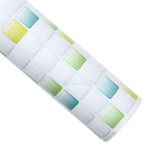 stick paper green candy tile contact paper peel and stick wallpaper