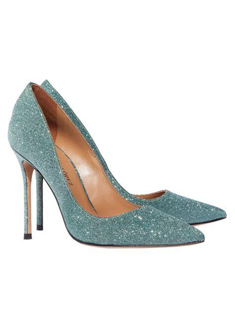 green glitter high heels high heel pumps in green glitter shoe store pura