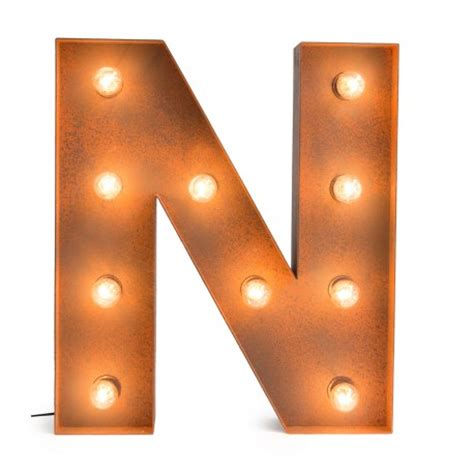 Letter N with Light Bulb   Reallynicethings