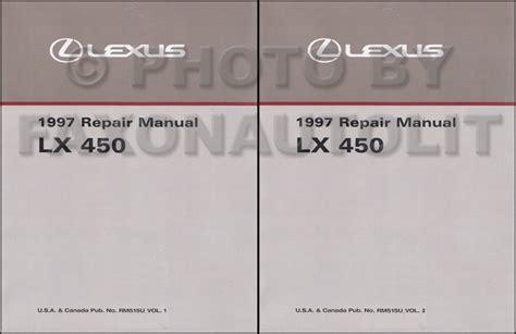 manual repair autos 1997 lexus lx on board diagnostic system 1997 lexus lx 450 repair shop manual original