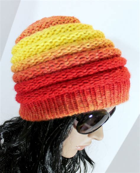 knitting beanie ombre beanie pattern free loom knit hat pattern for