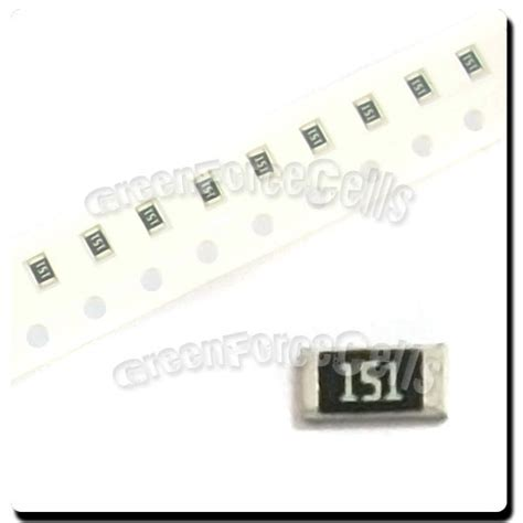 surface mount chip resistors sizes 200 x smd smt 0805 chip resistors surface mount 150r 150ohm 151 5 1 8w rohs ebay