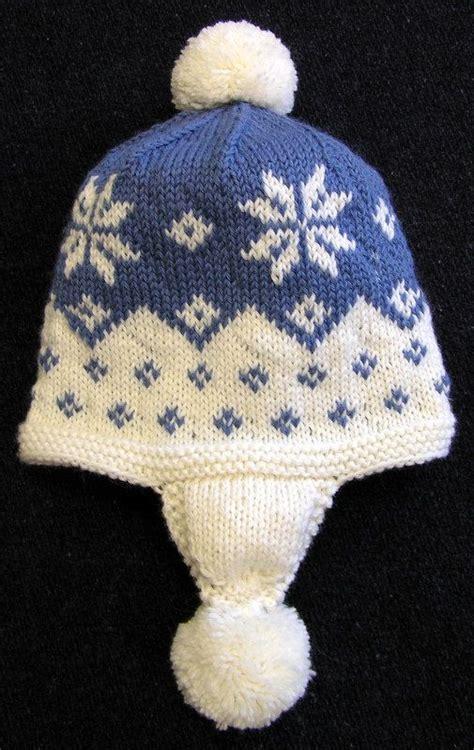 snowflake pattern to knit easy knitting pattern cascading snowflake earflap hat pdf