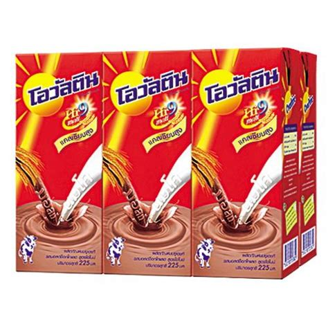 Ovaltine Swiss Formula With Chocolate Thailand thaidrink malt product ovaltine uht chocolate malt beverage 225 ml