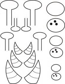 template monstre 8 best images of printable eye templates