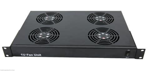 rack mount fans rack mount server fan system with 4 fans 1u ebay