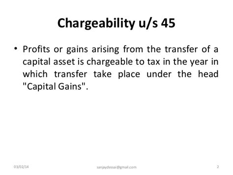 transfer of land section 45 computation of capital gains under income tax act 1961