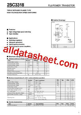et191 transistor datasheet 2sc3318 datasheet pdf fuji electric