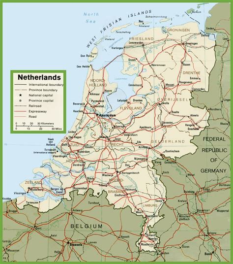 netherlands driving map netherlands road map