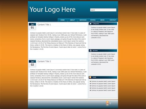 Design Web Page Layout Online | 6 best images of web page layout template web page