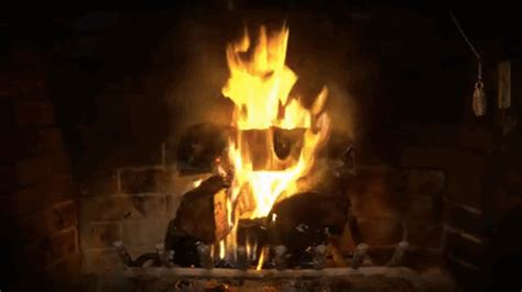 Animated Fireplace by Fireplace Gifs On Giphy