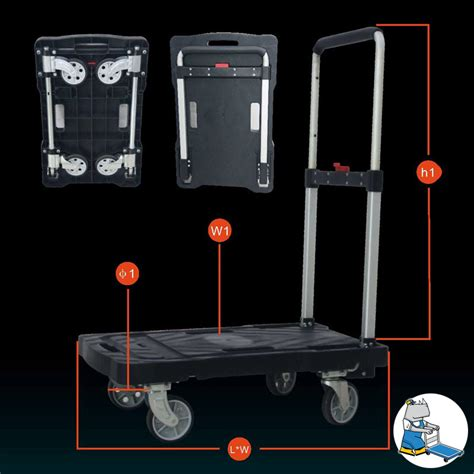 Truck Foldable Caster 150kg 705x440x900mm plastic foldable trolley 150kg trolley singapore