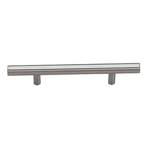 brushed nickel drawer pulls 3 inch richelieu 3 inch bar pull drawer cabinet hardware in