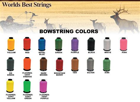 bow string colors products of worlds best strings