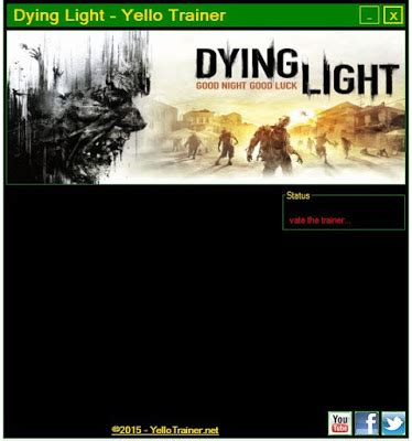 dying light pc trainer vida infinita muito dinheiro pc save trainer