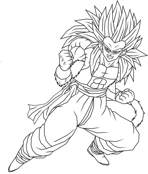 super saiyan gotenks coloring pages coloring pages