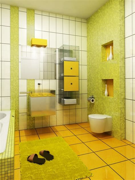Yellow Tile Bathroom Ideas by 34 Yellow Bathroom Floor Tile Ideas And Pictures