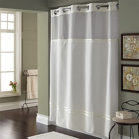 hookless fabric shower curtain liner hookless 174 escape 71 inch x 74 inch fabric shower curtain