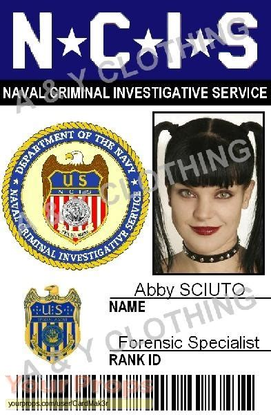 ncis id card template navy ncis naval criminal investigative service abby