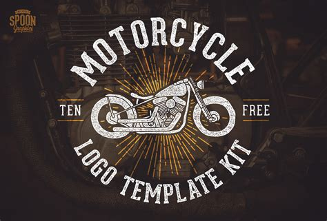 Free Motorcycle Vector Graphics Logo Template Kit Motorcycle Logo Design Templates