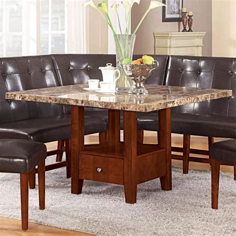 dining table with drawers australia acme furniture bologna 48 square marble dining table with
