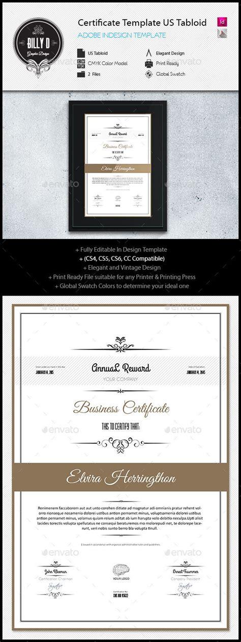 Certificate Template Us Tabloid Certificate Template Adobe Indesign Certificate Template