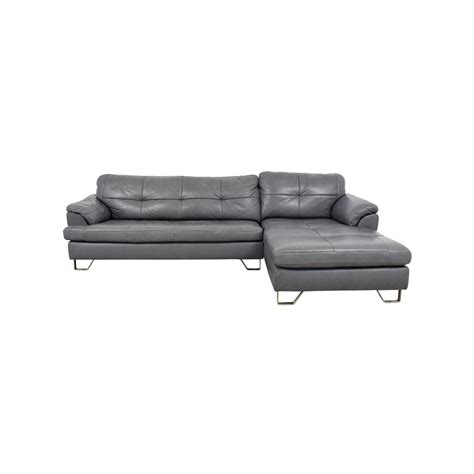 83 Off Ashley Furniture Ashley Furniture Gray Tufted Tufted Gray Sofa