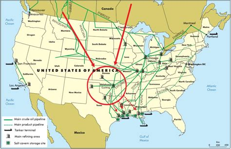 texas refineries map cushing oklahoma is the center of the universe www bullfax