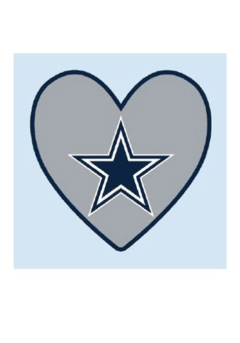 dallas cowboys logo in heart 4 pack tattoo 5713058