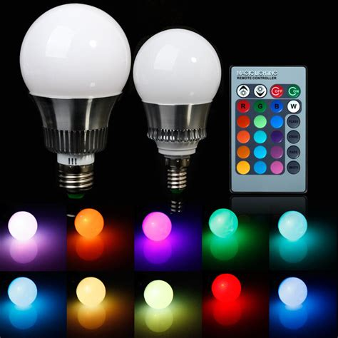 led light bulb color 5w 10w e27 e14rgb led light color changing l bulb 85
