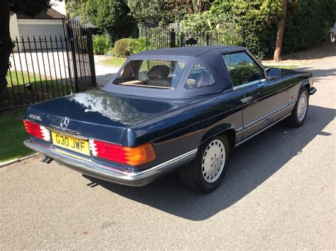 blue mercedes classic chrome mercedes benz 420 sl 1989 g blue dark