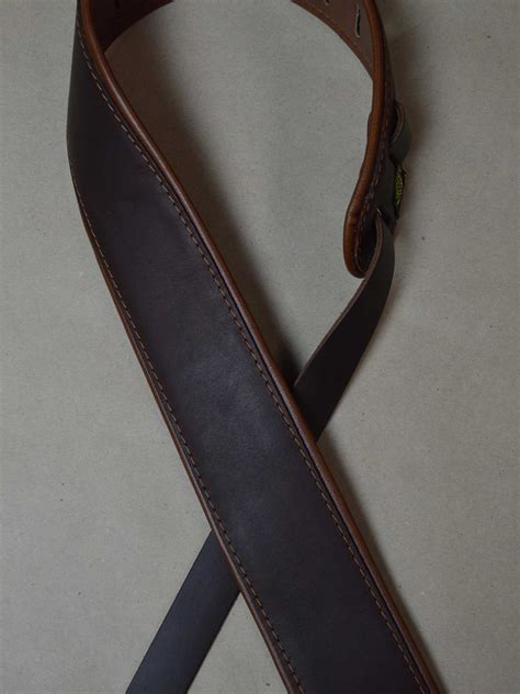 upholstery straps padded upholstery leather guitar strap brown tan