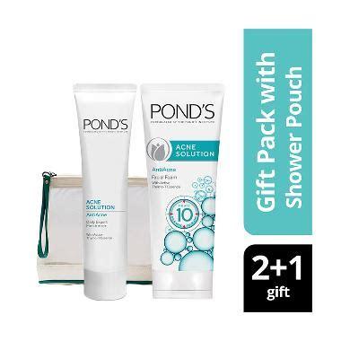 Diskon Pond S Ponds Foam Acne Solution 100g jual pond s acne solution foam 100 g leave on gel 20 g free shower bag