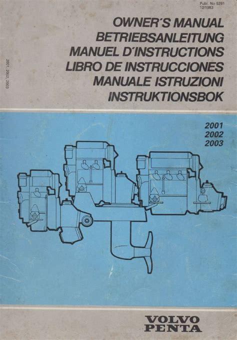 volvo penta basic instruction manual