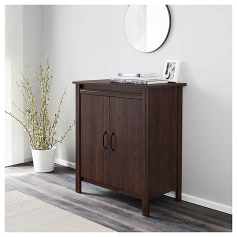 brusali cabinet brusali cabinet with doors brown 80x93 cm ikea