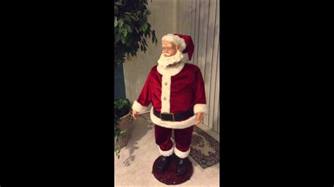 walmart singing and dancing santa claus gemmy size singing and santa