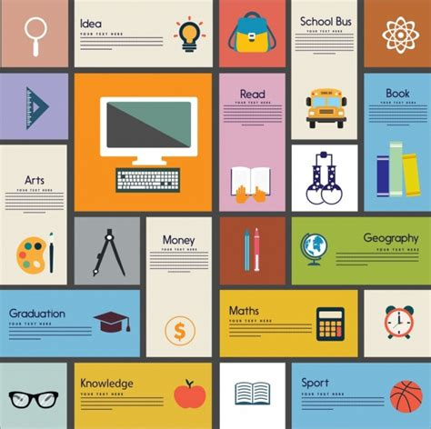 design elements banner education design element various banners flat icons free