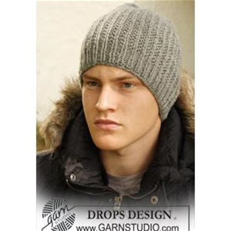 mens knit hat pattern s hat knitting pattern in textured design in drops