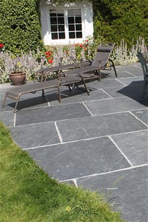 Custom Flagstones Slabs in Slate, Hand Split in Devon