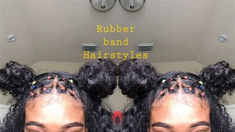 rubber band hairstyles natural hair video rubber