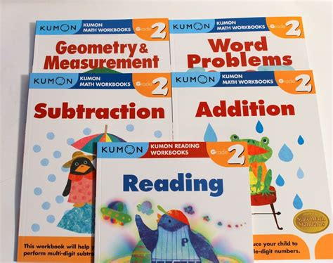Kumon Workbooks Grade 3 Reading kumon workbooks grade 2 set math reading 5 books
