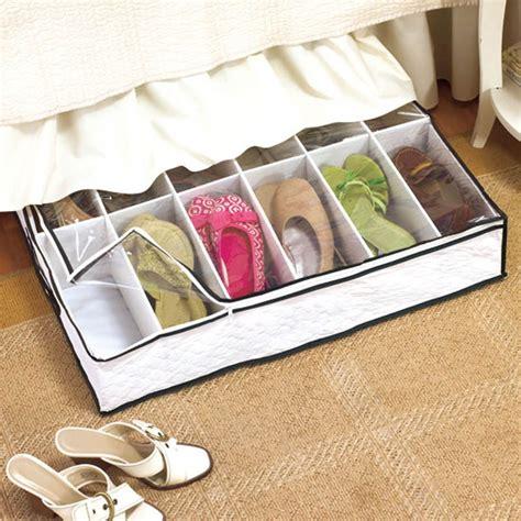 under bed organizer under bed shoe storage organizer 12 pairs underbed new ebay