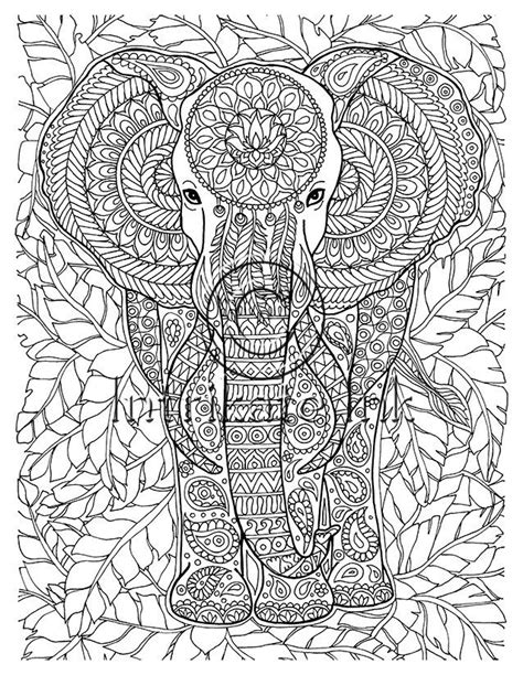 detailed elephant coloring pages elephant coloring page animal coloring wild detailed