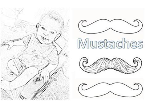 coloring pages of mustaches