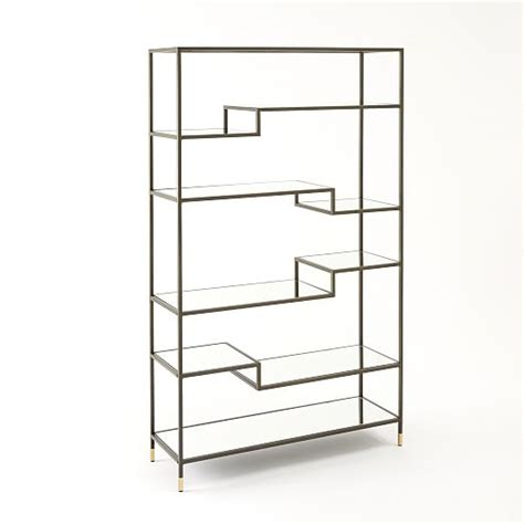 tiered tower bookcase west elm