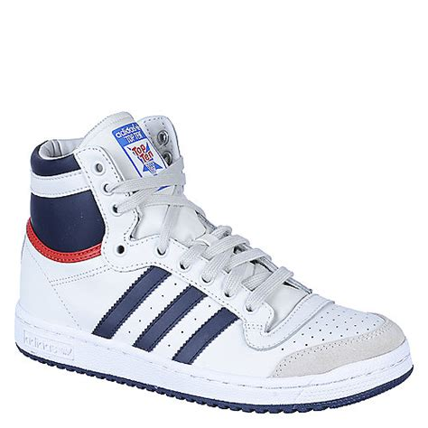 buy adidas white and navy top ten hi shoes