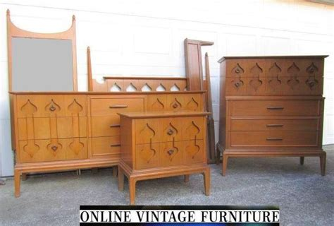 1960s bedroom set dresser credenza chest headboard